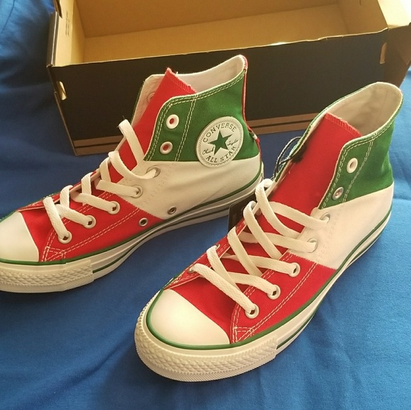 12a9827b766d53 Red White Green Mexico Chuck Taylors Converse NEW